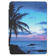 Tropical Island Beach Ocean Pink Blue Sunset Photo Ipad Air Cover at Zazzle