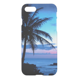 Tropical Island Beach Ocean Pink Blue Sunset Photo iPhone 7 Case