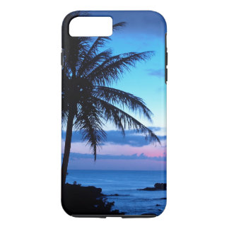 Tropical Island Beach Ocean Pink Blue Sunset Photo iPhone 7 Plus Case
