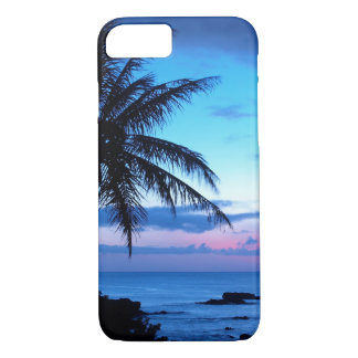 Tropical Island Beach Ocean Pink Blue Sunset Photo iPhone 8/7 Case
