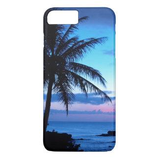Tropical Island Beach Ocean Pink Blue Sunset Photo iPhone 8 Plus/7 Plus Case