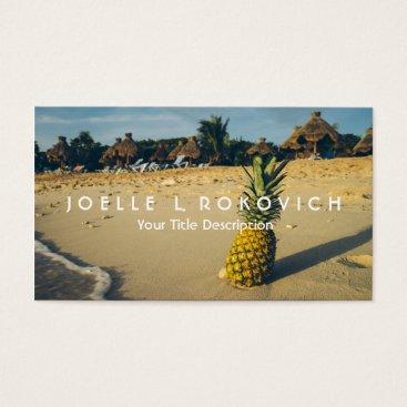 Beach Themed Tropical Island Beach Pineapple Travel Tourism Business Card