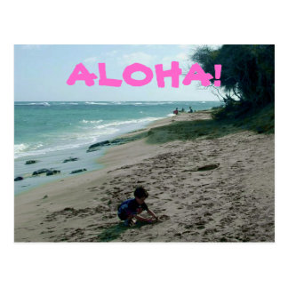 Tropical Island Beach Postcard