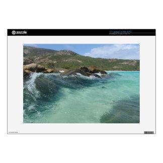 tropical island beach swimming laptop skin