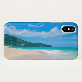 Tropical Island Beach Turquoise Water iPhone X Case