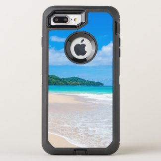 Tropical Island Beach Turquoise Water OtterBox Defender iPhone 8 Plus/7 Plus Case