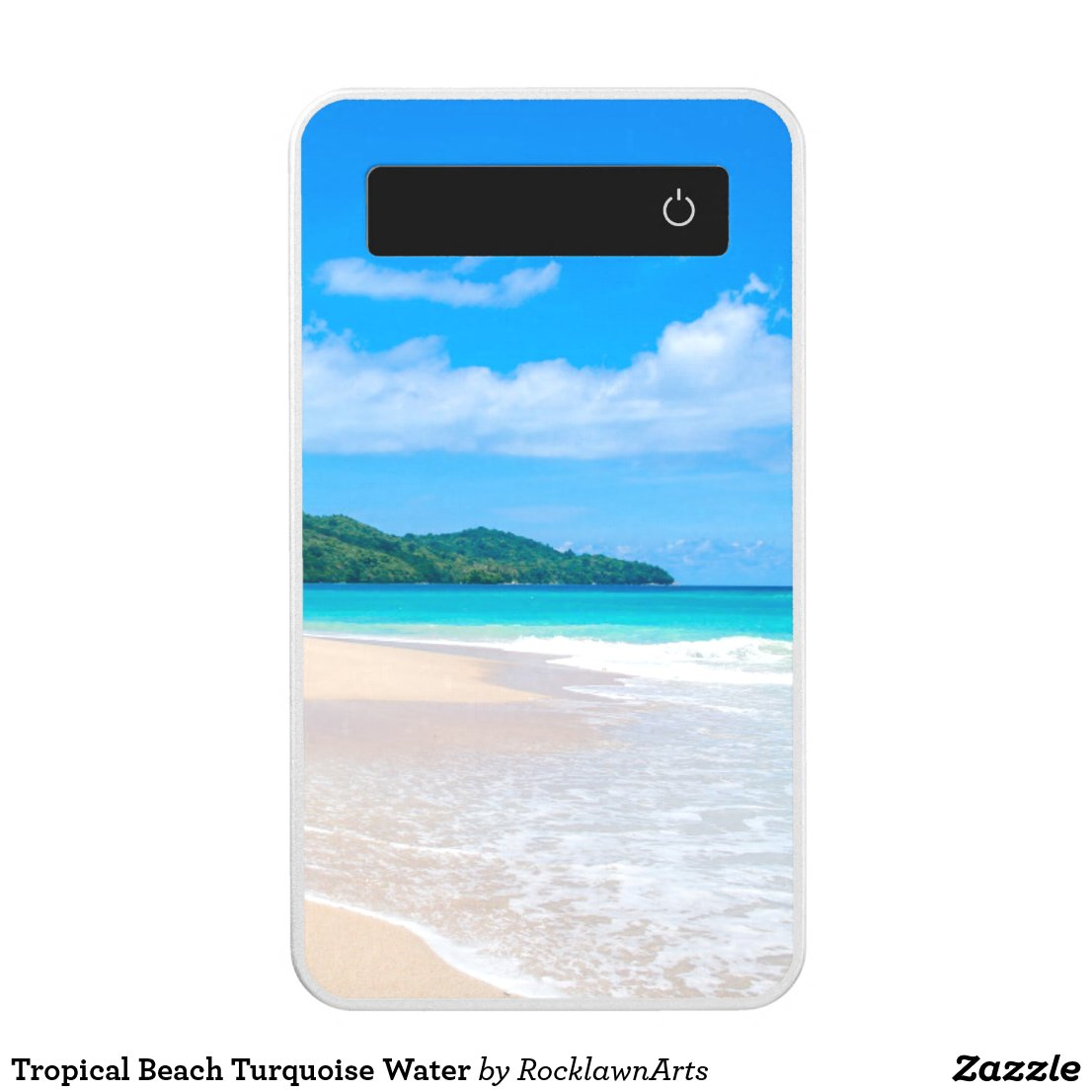 Tropical Island Beach Turquoise Water Power Bank