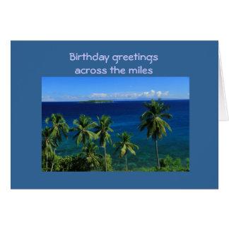 Tropical Island Birthday Card