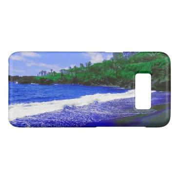 Beach Themed Tropical Island Black Sandy Beach Case-Mate Samsung Galaxy S8 Case