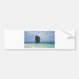 tropical island bumper sticker