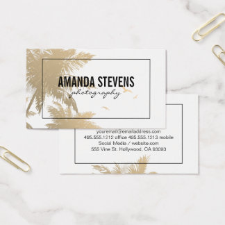 Tropical Island Business Card