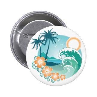 Tropical Island Pin