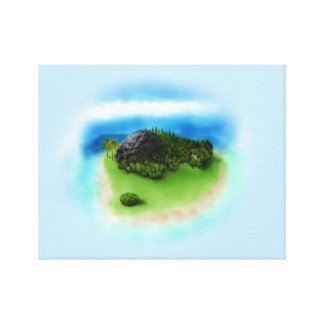 Tropical Island Canvas Wrap