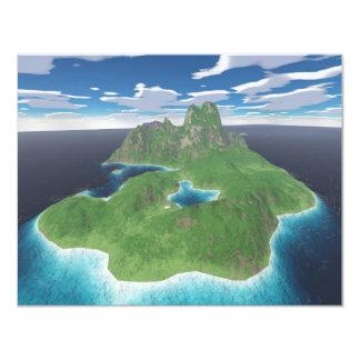 Tropical Island Card