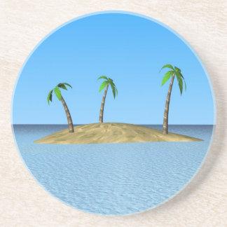 tropical island beverage coasters