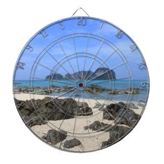 Tropical island dart board