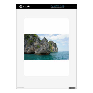 tropical island decals for the iPad