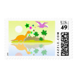 Tropical Island Dinosaurs Postage Stamps