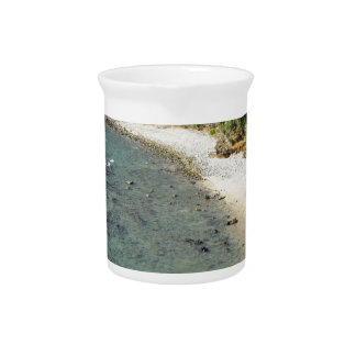 tropical island drink pitcher