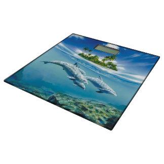 Tropical Island Fantasy Bathroom Scale