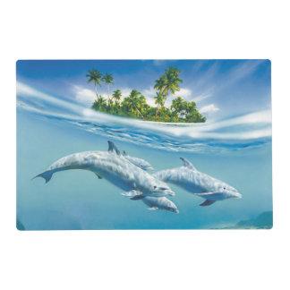 Tropical Island Fantasy Laminated Placemat