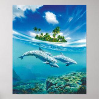 Tropical Island Fantasy Poster