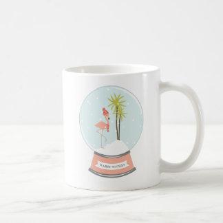 Tropical Island Flamingo Christmas - Pink Coffee Mug