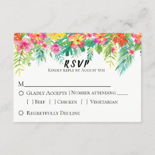 Tropical Island Fl Wedding Rsvp