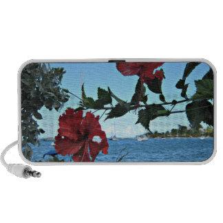 Tropical Island Flowers Notebook Speaker