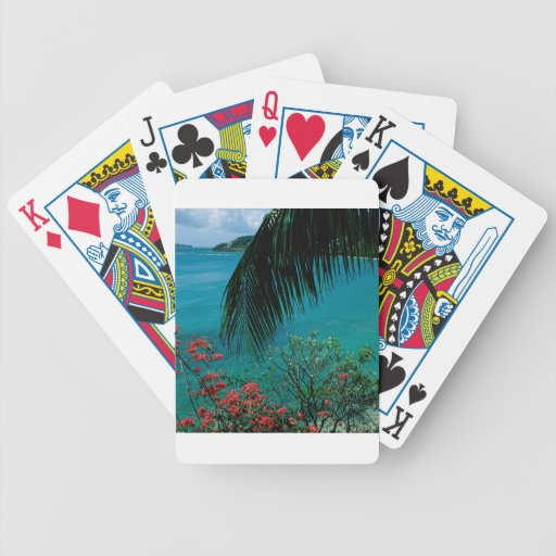 Tropical Island Friendship Bay Bequia Playing Cards