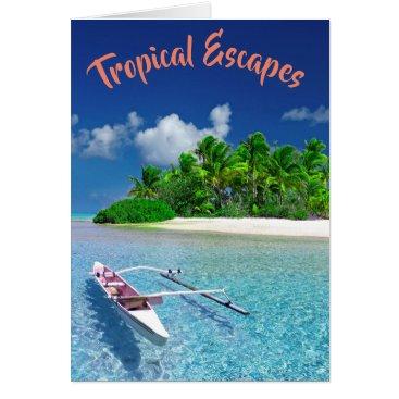 Beach Themed Tropical Island Getaway Card