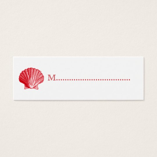Tropical Island Ginger Red Shell Seating Cards