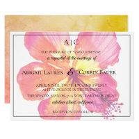 Tropical Island Hibiscus Wedding Invitation