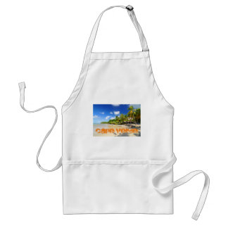 Tropical island in Cape Verde Adult Apron