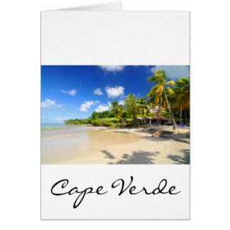 Tropical island in Cape Verde Card