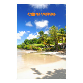 Tropical island in Cape Verde Stationery
