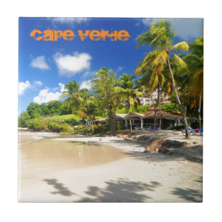 Tropical island in Cape Verde Tile