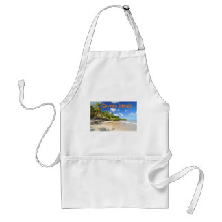 Tropical island in Cayman Islands Adult Apron