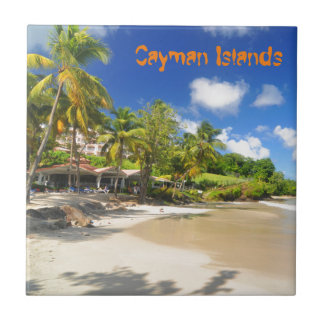 Tropical island in Cayman Islands Ceramic Tile