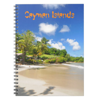 Tropical island in Cayman Islands Notebook