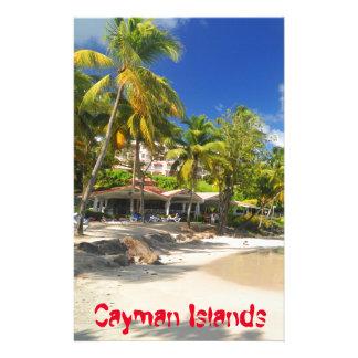 Tropical island in Cayman Islands Stationery
