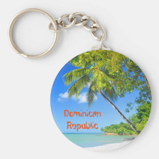 Tropical island in Dominican Republic Keychain