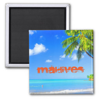 Tropical island in Maldives Magnet