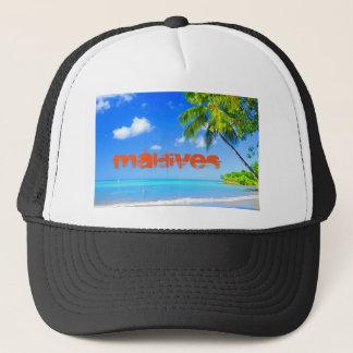 Tropical island in Maldives Trucker Hat