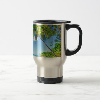 Tropical island in Mauritius Travel Mug