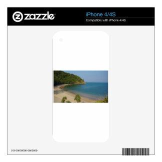tropical island iPhone 4 decal