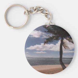 Tropical Island Keychain