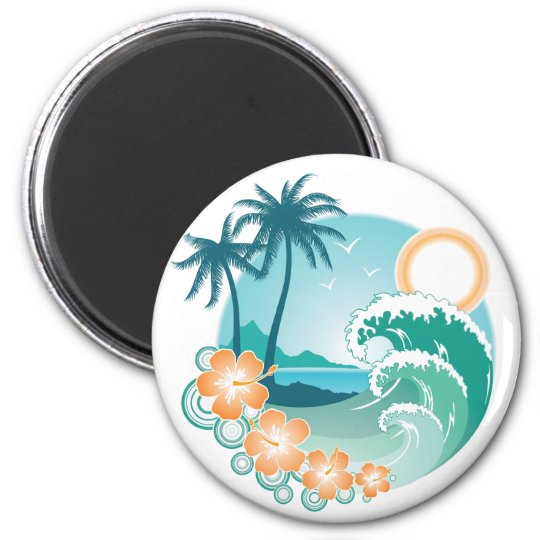 Tropical Island Magnet