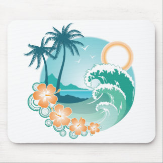 Tropical Island Mouse Pad