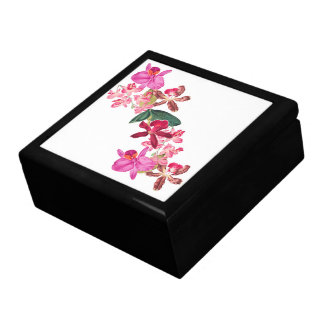 Tropical Island Orchid Flowers Floral Gift Box